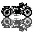 Black vintage motorcycle vector image