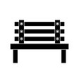 bench park decoration furniture comfort vector image