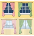 A set of curtains with a beautiful view from vector image vector image