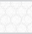 abstract black and white hexagon outline overlap vector image vector image