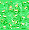 abstract seamless floral pattern in a doodle vector image