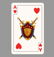 Ace of hearts playing card vector image vector image