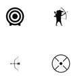 archery icon set vector image vector image