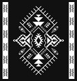 aztec geometric seamless patterns tribal black vector image