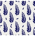 Ball pen seamless pattern with branches vector image vector image