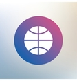 Basketball sign icon Sport symbol vector image vector image