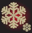 big golden iridescent christmas snowflake vector image vector image