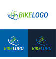 bike icon and logo vector image vector image