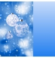 Blue card with christmas balls EPS 8 vector image vector image