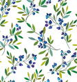 Blueberry seamless graphic pattern vector image vector image