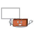 bring board brick character cartoon style vector image vector image