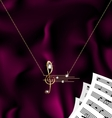 chain with treble clef and notes vector image vector image