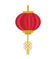 chinese lantern icon flat cartoon style vector image vector image