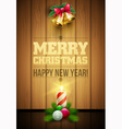 Christmas Message board vector image vector image