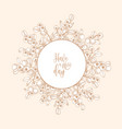 circular backdrop or wreath made lingonberries vector image vector image