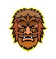 circus wolfman or wolfboy mascot vector image vector image