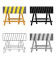 construction barricade icon in cartoon style vector image