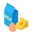 dairy product icon cartoon isometric 3d style vector image vector image
