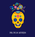day of the dead dia de los muertos background vector image vector image