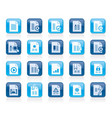 different types of document icons vector image vector image