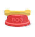 dog bowl design vector image vector image