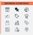 ecommerce icons set collection of money transfer vector image vector image