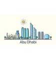 Flat line Abu Dhabi banner vector image vector image