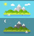 flat nature landscape vector image vector image