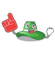 foam finger beach hat in the mascot closet vector image