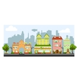 four little houses vector image vector image