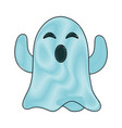 ghost funny cartoon vector image