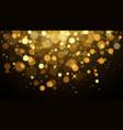gold glitter dust background vector image