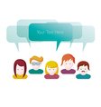 Group of people communication vector image