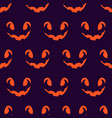 halloween scary faces seamless pattern vector image