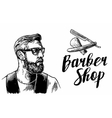 Hipster shave haircut in the BarberShop vector image vector image