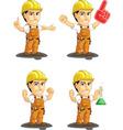 Industrial Construction Worker Mascot 13 vector image vector image