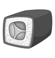 japan sushi roll icon monochrome vector image