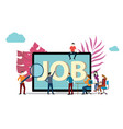 job search or recruitment with people of team vector image vector image