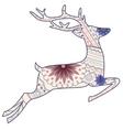Jumping vintage deer vector image vector image