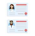 license doctor set vector image vector image