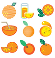 logo icons orange vector image vector image