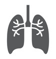 lungs glyph icon anatomy and biology pulmonology vector image vector image