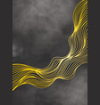 luxury golden wallpaper abstract background vector image