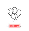 minimal editable stroke balloon icon vector image