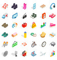 network search icons set isometric style vector image vector image