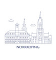 norrkoping vector image