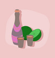 paper sticker on stylish background champagne vector image vector image