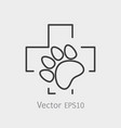 paw print pet health care icon vector image vector image