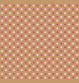 pink and white stars pattern on beige background vector image