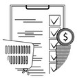 planning supermarket icon line vector image vector image